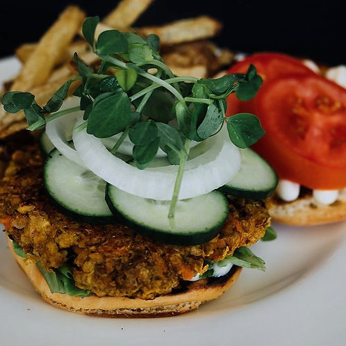 Vegetarian Curry Chickpea Burgers