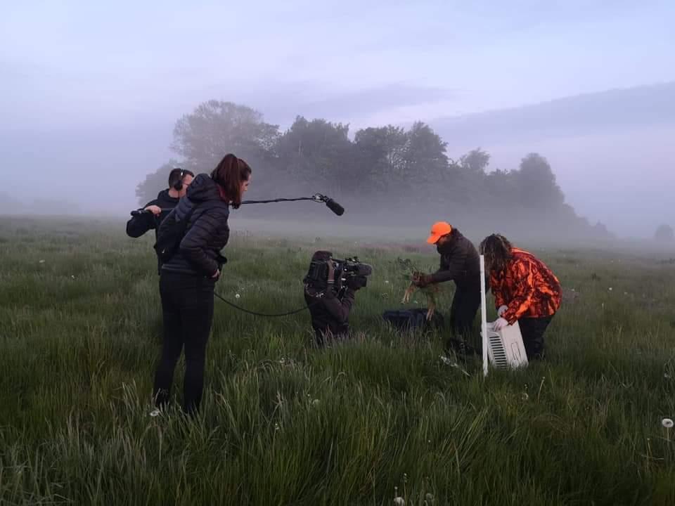 Kamerateam im Einsatz