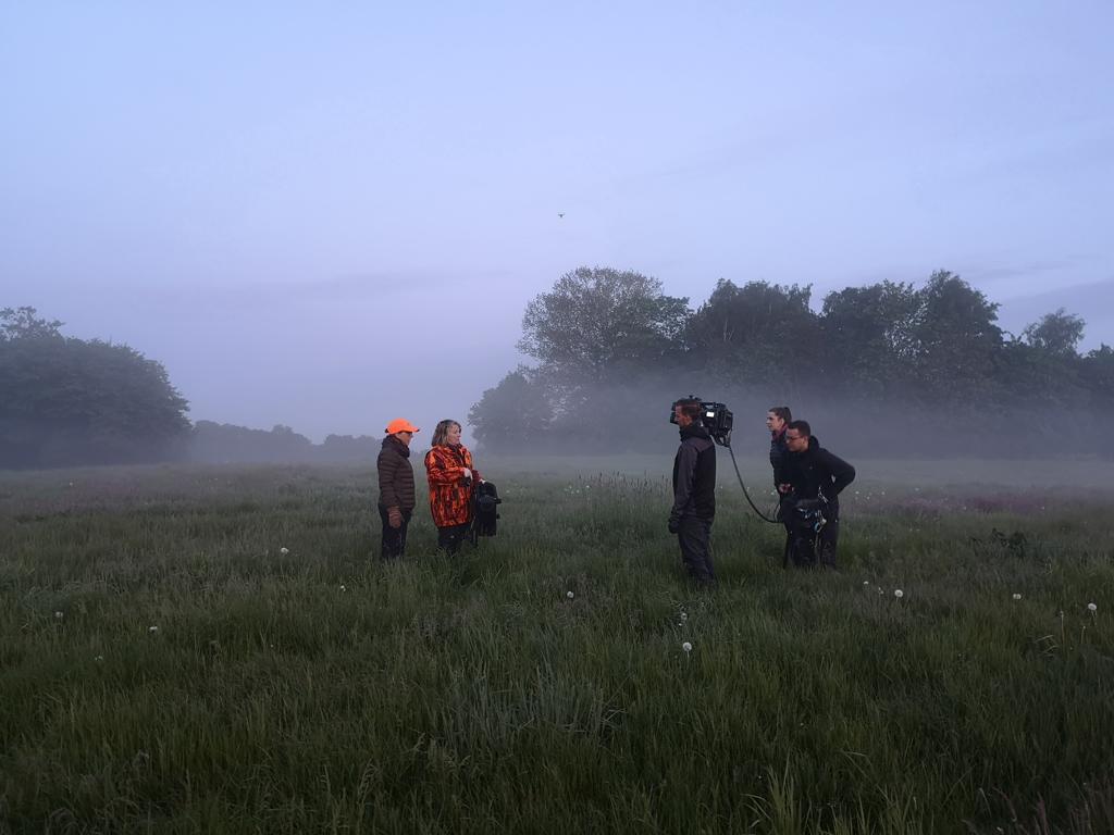 Kamerateam beim Einsatz