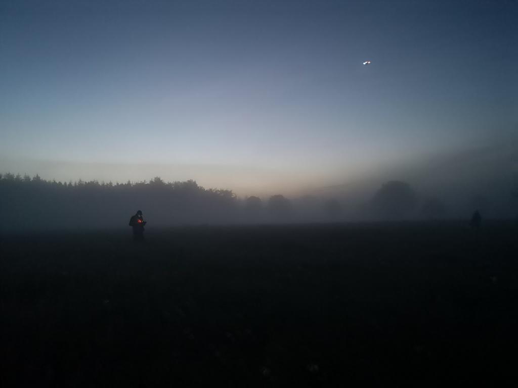 Drohnenflug im Morgengrauen