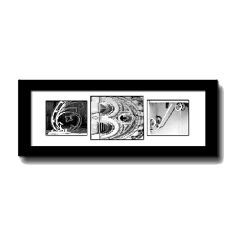 MARRIED MONOGRAM (framed)