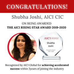 Awarded Rising Star 2019-2020 by AICI