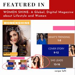 Featured in Women Shine Magazine