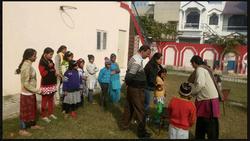 Shubha Joshi at Manisha Orphanage