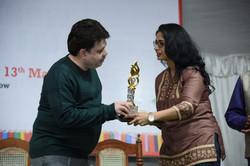Receiving the Women Excellence Award 2021