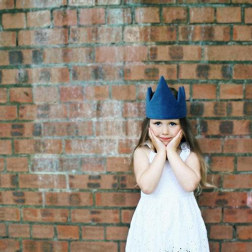 Dusky Blue Velvet Crown