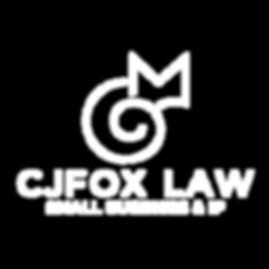 CJ Fox Law Logo FINAL outlined white-01.