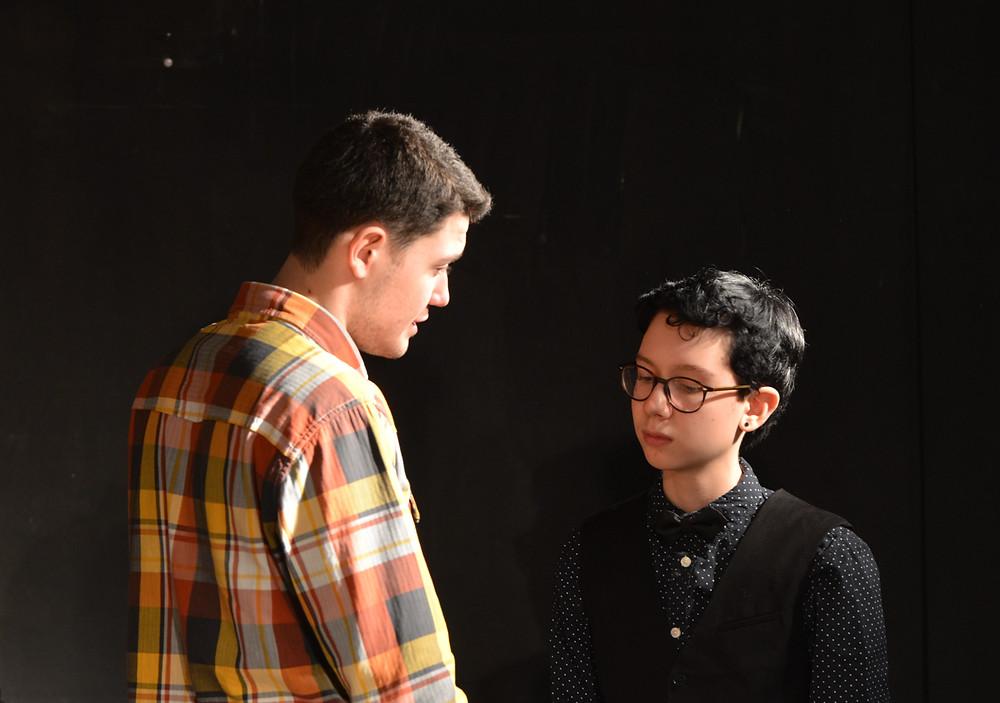 links Jago (Mark), rechts Cassio (Christian)
