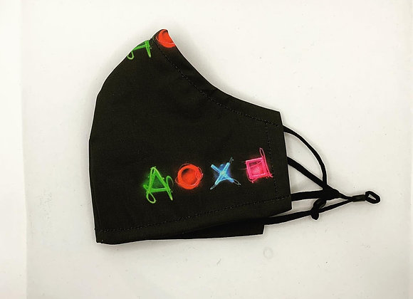 Playstation Neon Buttons Mask