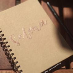 Personalised embossed notebook