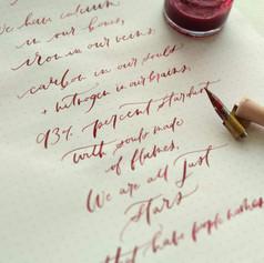 Modern calligraphy poem
