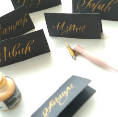 Wedding Calligraphy - Place cards