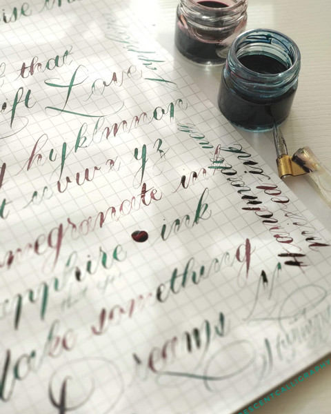 Copperplate practice