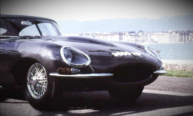 Period shot of the E-type