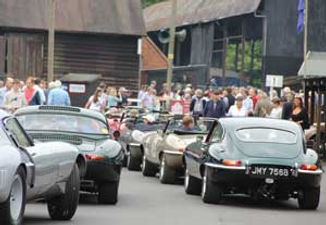 E-type hillclim event at Shelsley Walsh