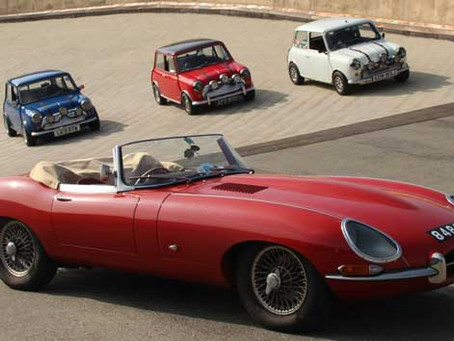 The Mini and the E-type - two British icons