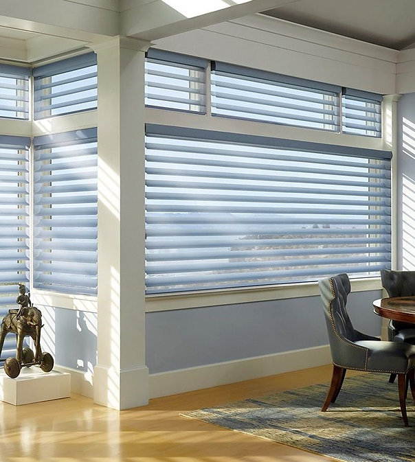 Swags Decorating hunter douglas silhouet