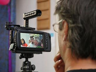 Event filming of Tariq Ali at the World Transformed in Brighton