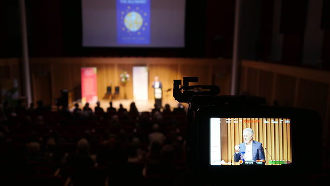 Filming Colm Holland at the Wells Literary Festival, Somerset
