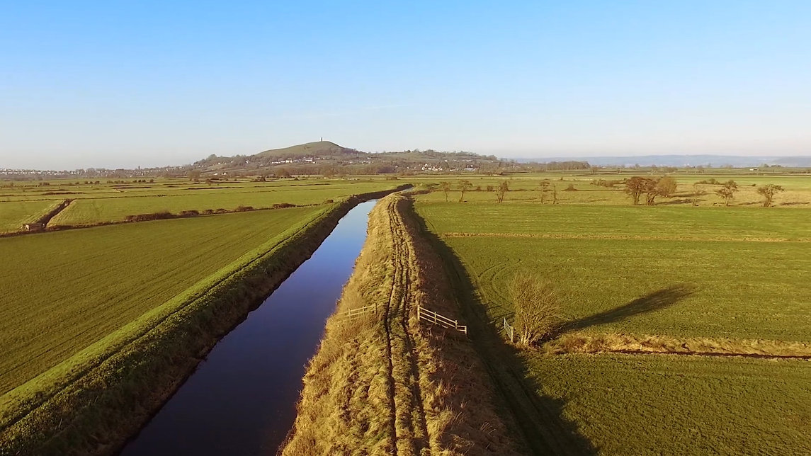 Drone Videography of Glastonbury Tor in Somerset