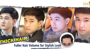 Increase hair volume on the forehead line made me look more handsome!