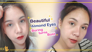 Almond Shaped Eyes turn my boring look to beautiful and bold!