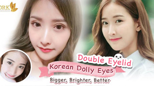 Double eyelid eyes Korean girl.