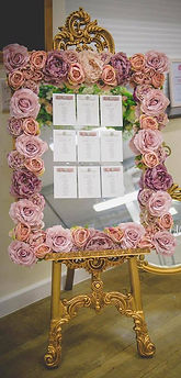 Large Floral Mirror Table Plan - Blush Flowers.