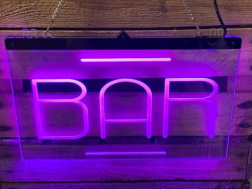 Illuminated Happy Hour Bar Sign