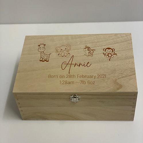 Personalised Keepsake Box - Baby