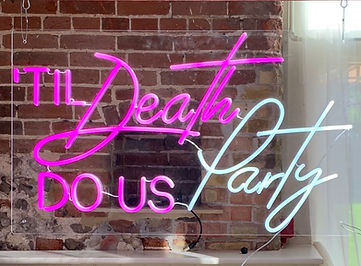 Til' Death Do Us Party - Pink & White LED Neon