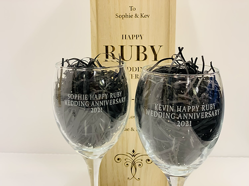 Laser Engraved Personalised Glass