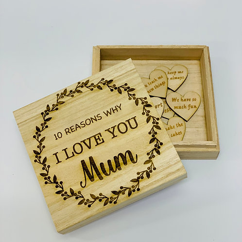 Personalised Reasons Why I Love You Gift Box
