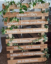 Rustic Pallet With Personalised Order of The Day