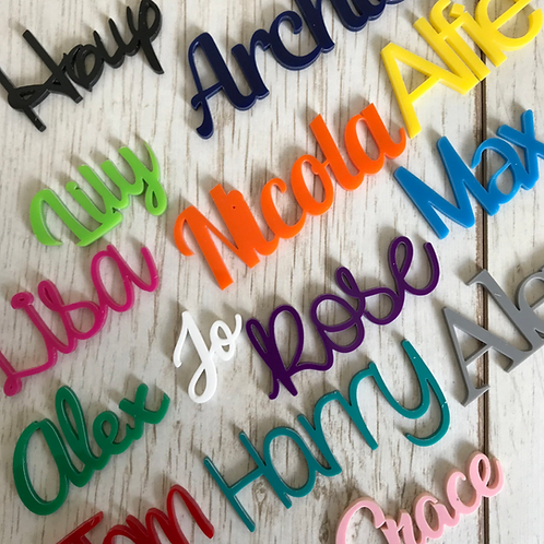 Coloured Acrylic Personalised Place Names