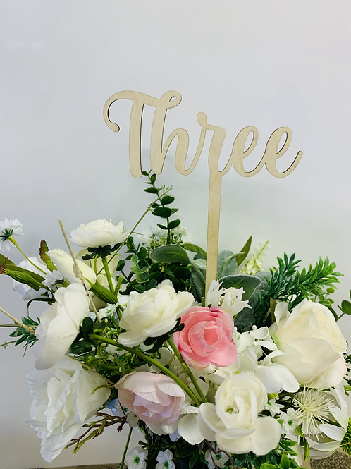 Wooden Table Numbers 1-20