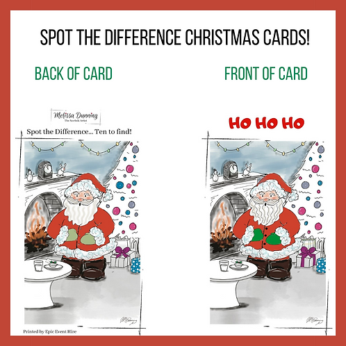 Spot The Difference Santa Christmas Cards
