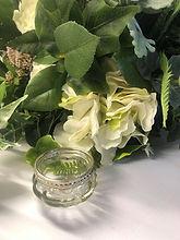 Clear Glass With Metal Rim Tea Light Holder