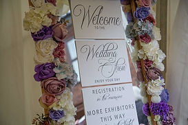 Floral Mirror Table Plan - White/Ivory/Blush/Purple/Blue