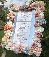 Floral Mirror Table Plan - Ivory, Blush, Blue Florals