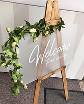 Frosted Acrylic Welcome To Our Wedding Sign