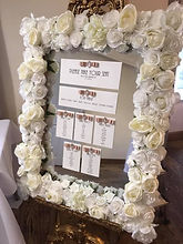 Floral Mirror Table Plan - White/Ivory