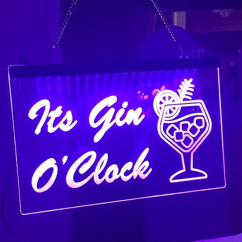 Illuminated Gin Bar Sign