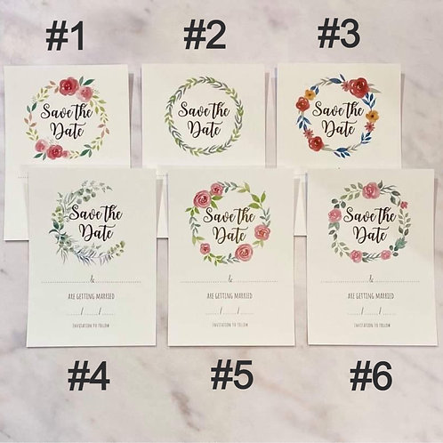 25 Ready to write Save the Date blank cards DIY