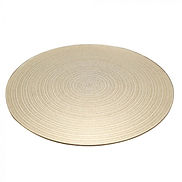 25cm Round Gold Swirl Mirror Plate Wedding Centrepieces
