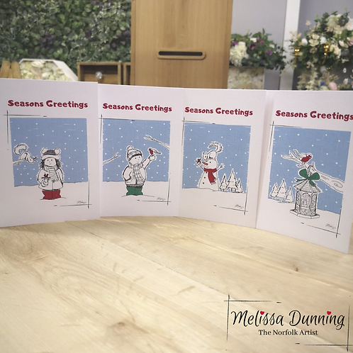 'Seasons Greetings' Christmas Cards