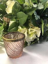 Large Rose Gold Swirl Tea Light Holder