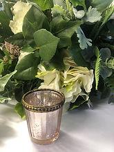 Small Rose Gold Swirl Tea Light Holder