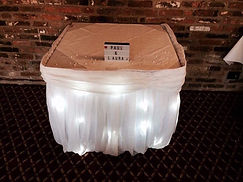 Fairy Light Cake Table Skirt