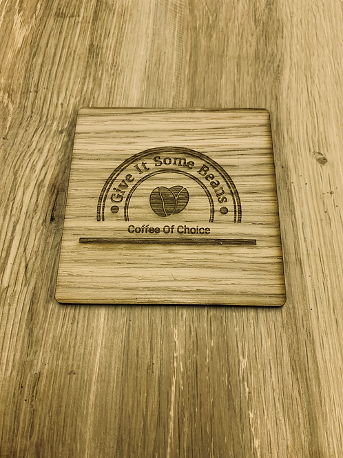 Personalised Wooden Square Coaster